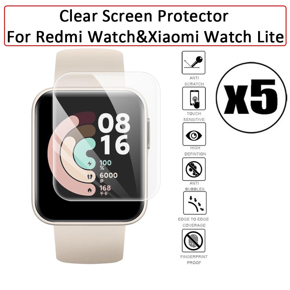 Soft Screen Protector for Xiaomi Redmi Watch&Mi Smart Watch Lite Anti-Scratch Full Coverage Hydrogel