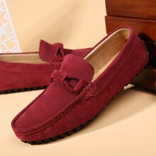 2021 Suede Leather Men Shoes Spring Fashion Men Loafers Flats New High Quality Casual Shoes For Men