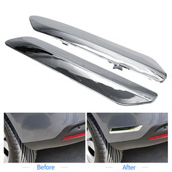 Amortecedor traseiro dianteiro chrome capa adesivo scratch-proof cromo estilo guarnição decoração para citroen c5 x7 2007-2015