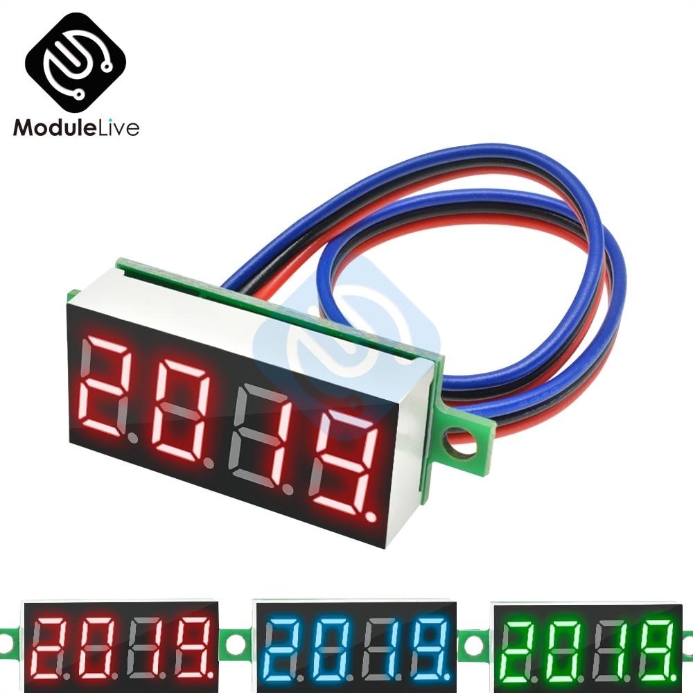 "DC 0-100V 0.36 ""0,36 Zoll Digital Voltmeter Panel 4 Digit Auto Spannung Meter 12V 48V 60V Batterie Kapazität Tester Detektor Werkzeuge"