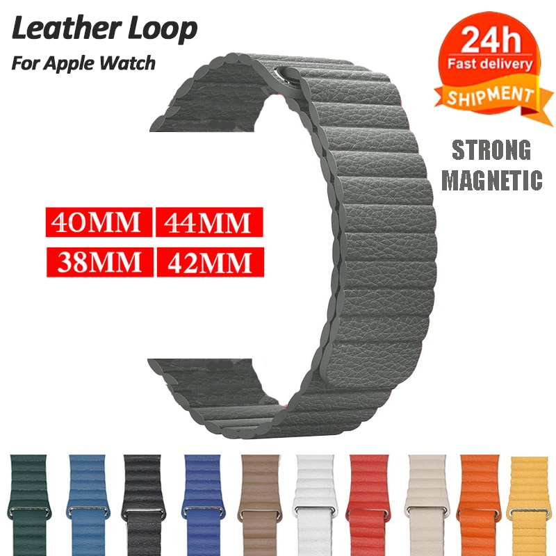 soft silicone loop strap for apple watch band 5 4 44mm 40mm bracelet wristband for iwatch series 5 4 3 2 1 42mm 38mm accessories Leather Magnetic Loop for Apple Watch 6 5 4 SE 42MM 38MM 44MM 40MM Watch Band  Bracelet Strap for IWatch Series 6 5 4 Wristband