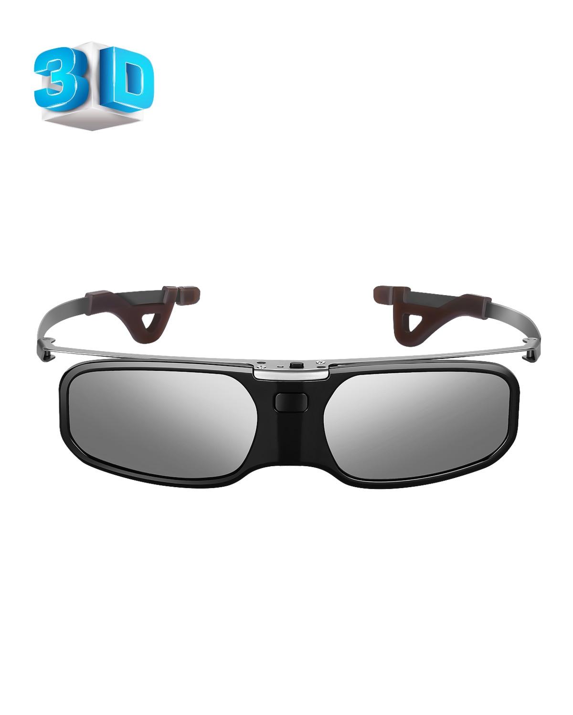 Pince à lunettes à obturateur actif Rechargeable Bluetooth 3D Compatible avec projecteur LCD Epson Sony