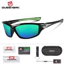 Gafas de sol QUESHARK TR90 sin armazón HD polarizadas, gafas de pesca, gafas de ciclismo para hombre, mujer, deporte, senderismo, correr, Golf