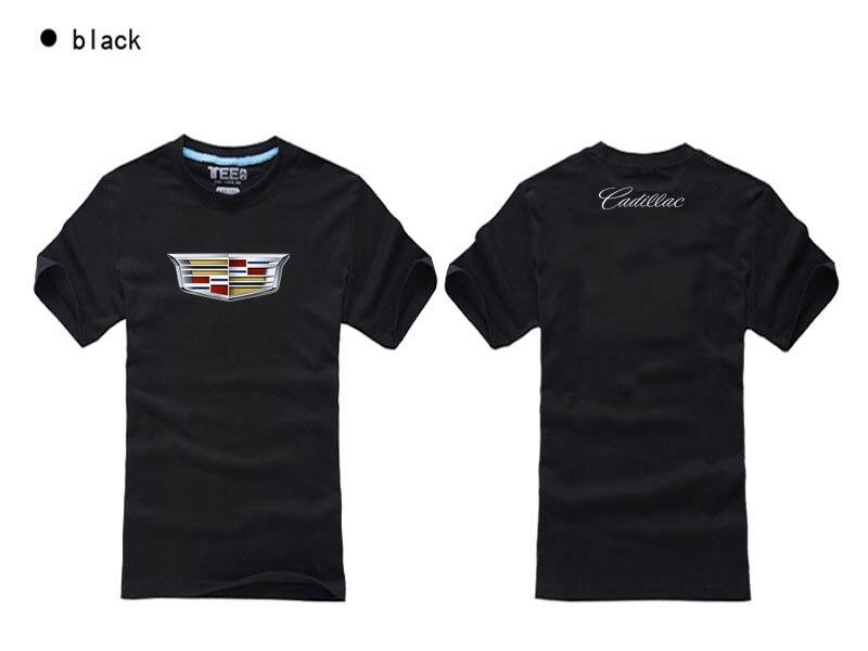 Camisetas de manga corta de algodón de buena calidad camiseta de verano de jersey disfraz de Cadillac logo camiseta