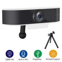 FDBRO Webcam 1080P USB HD Web Camera Two-way Audio Talk 1920x1080  Plug and Play Mini Webcam Support Windows/Android/Linux