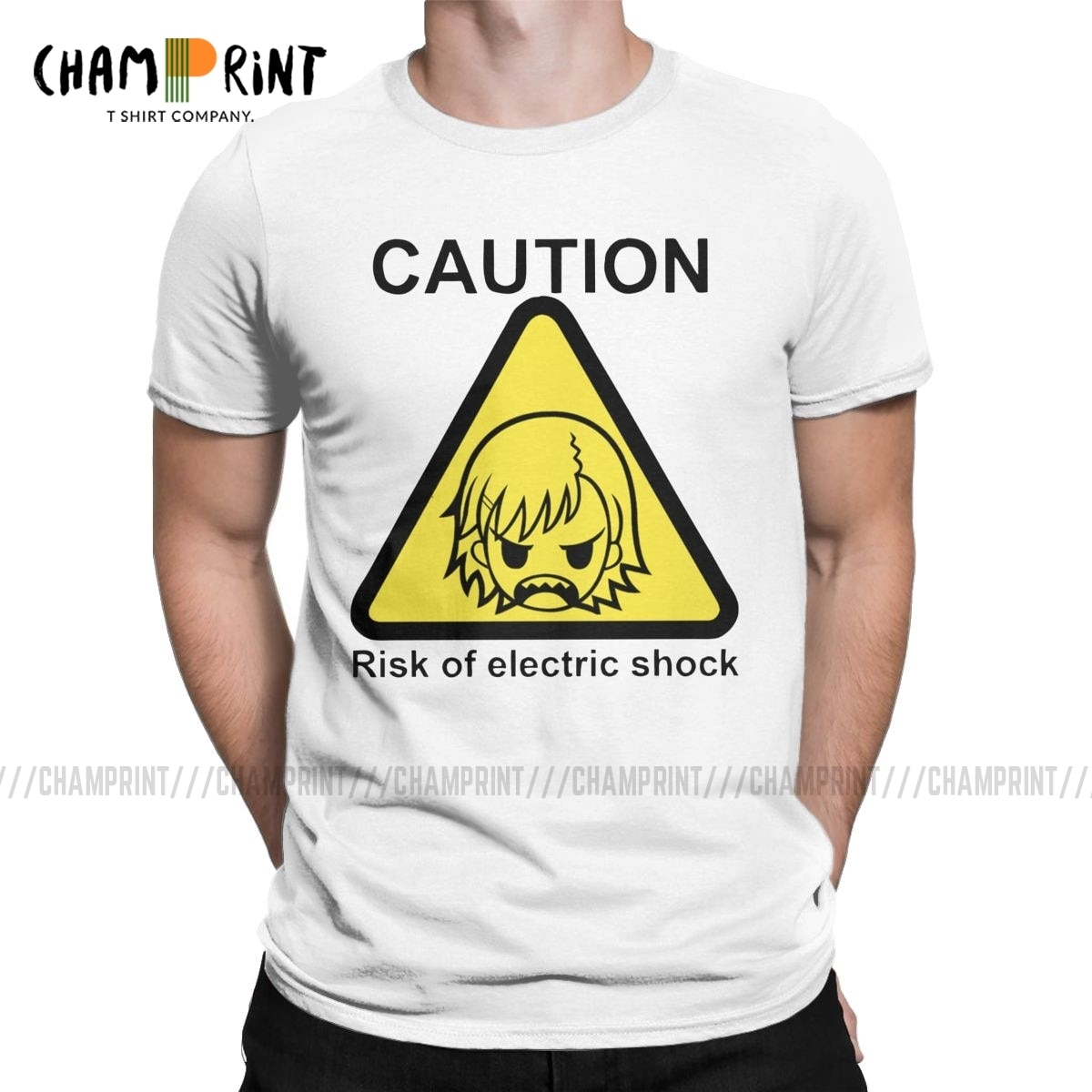 Um certo choque elétrico científico t camisas homem lazer camiseta um certo científico railgun misaka anime camiseta