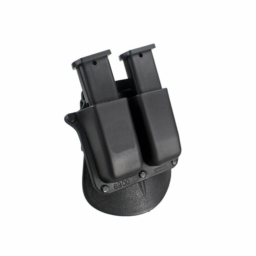 Bolsa táctica Mag 6900 estilo Paddle doble revista bolsa para Glock 9mm .40 Sig Sauer .357 .40