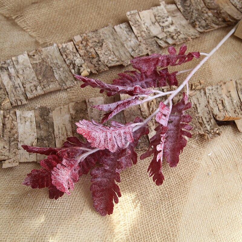 7 colores hoja persa plástico plantas artificiales Rama de hierba 80cm decoración de jarrón alto hogar boda decoración de Navidad