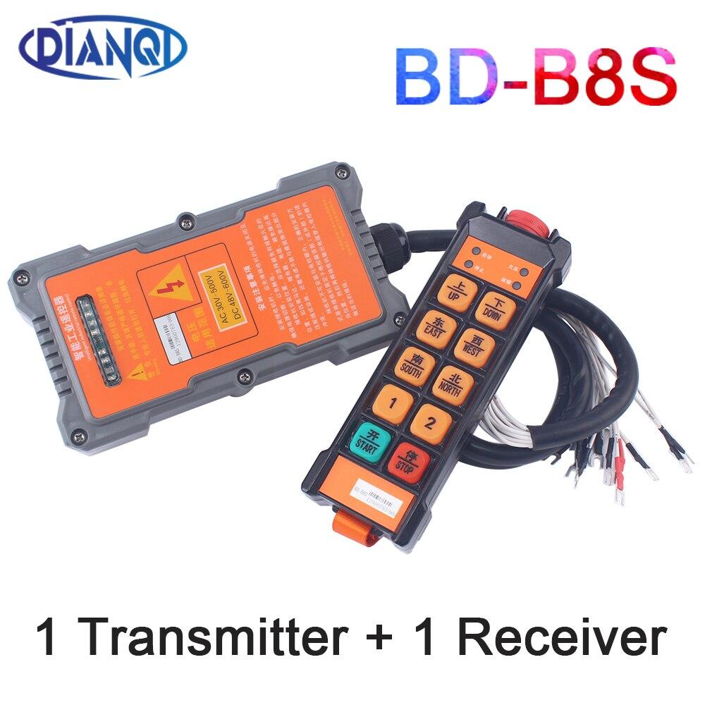 الصناعية تحكم عن بعد مفاتيح مرفاع متنقل تحكم رفع رافعة BD-B8S 1 الارسال 1 استقبال AC30V-500V DC48V-600V