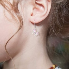 925 Sterling Silver Clean CZ Unicorn Cute Stud Earrings For Kids Baby Women Silver Jewelry