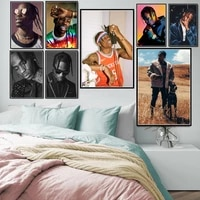 poster prints new travis scott rapper music star fashion icon art oil painting canvas wall pictures home decor %d0%ba%d0%b0%d1%80%d1%82%d0%b8%d0%bd%d1%8b plakat
