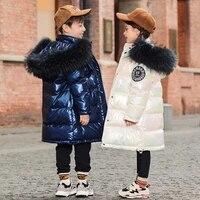 olekid 30 degrees shiny down jacket for girls hooded kids girls winter jacket 3 14 years teenagers coat children boys outerwear