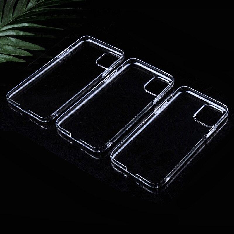Noow pc cristal claro transparente plástico duro volta caso capa pele para iphone 11/11pro/11 promax/6plus/7/7plus x xs xsmax xr