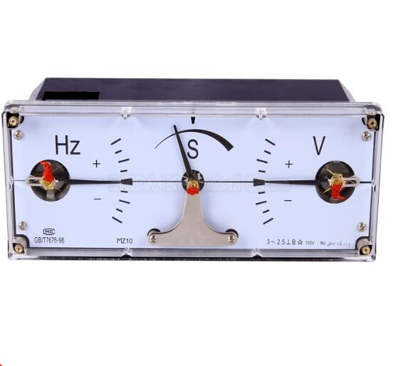 1Pcs MZ10 Drei Phase Synchron Meter Generator Grid Verbunden 100V 220 V Synchron Meter MZ-10