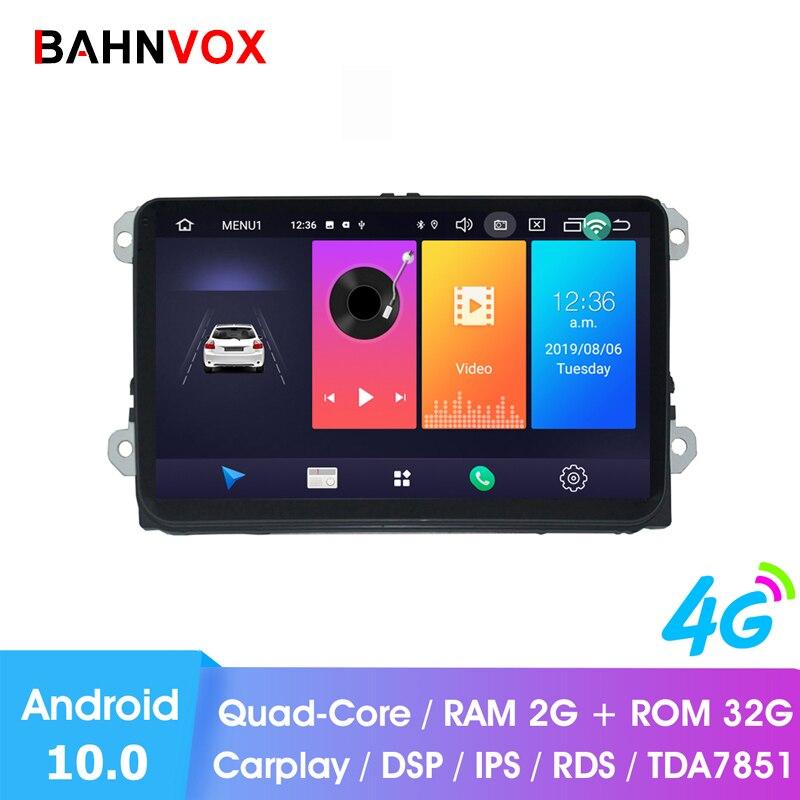 "9 ""android 10.0 ram2g rádio do carro gps dvd player multimídia para vw passat b6 cc polo golf 5 6 touran jetta tiguan magotan assento dsp"