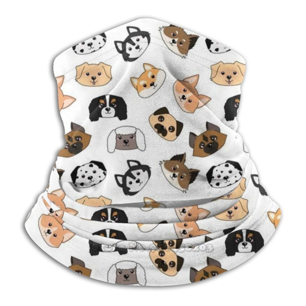 Doggies Pattern Microfiber Neck Warmer Bandana Scarf Face Mask Dalmatian Dalmatian Dog Large Dog Dalmatien Doggy England Uk Dog
