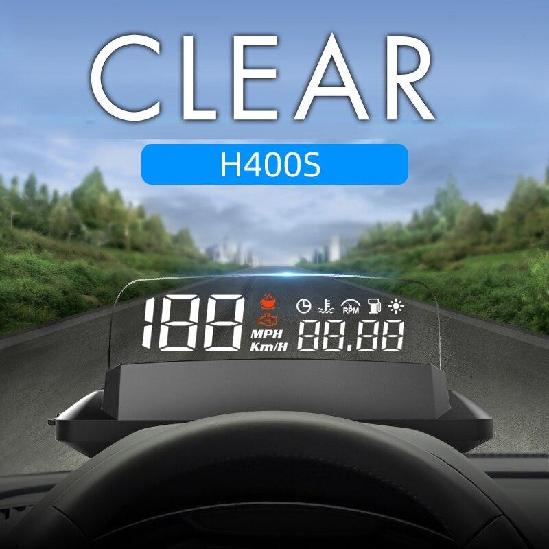 HUD – écran tête haute H400S GPS, compteur de vitesse, pare-brise, projecteur de vitesse, KMH/KPM, compatible avec toutes les voitures, nouveauté 2021