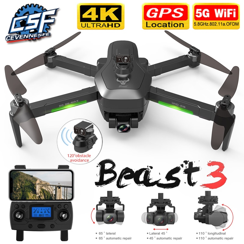 NEW SG906 MAX/Pro2 GPS Drone with Wifi FPV 4K Camera Three-axis Gimbal Brushless Professional Quadco