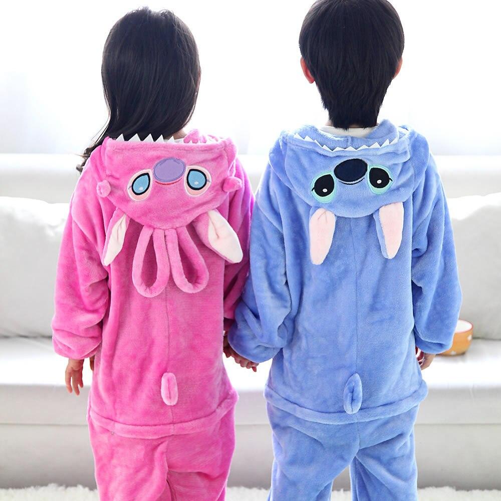 Bebê meninos meninas pijamas uintern onesies pijamas infantis panda flanela com capuz macacão pijamas para crianças 4-12 anos
