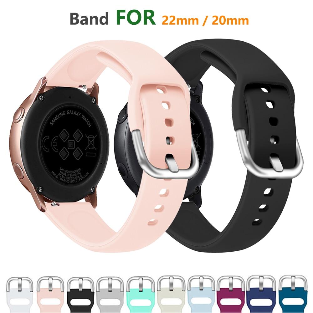 22mm watch band For Samsung Galaxy watch active 2 galaxy watch 46mm 42mm strap gear s3 s2 gear sport amazfit bip watchband 44 40