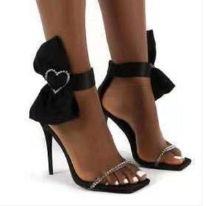 Fashion New Thin Heel Bow Sandals Women Open Toe Women's Sandals Shoes