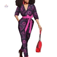 pus size jumpsuits and rompers for women sexy overalls women jumpsuit elegant v neck dashiki clothes short sleeve 6xl wy3157