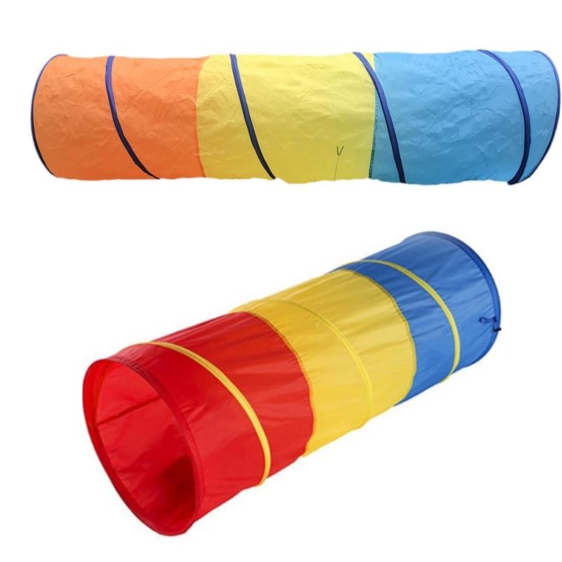 Três cores de brinquedo do bebê cawling túnel crianças tubo brinquedo ao ar livre e indoor bebê jogar rastejando jogos tenda acesso jogo