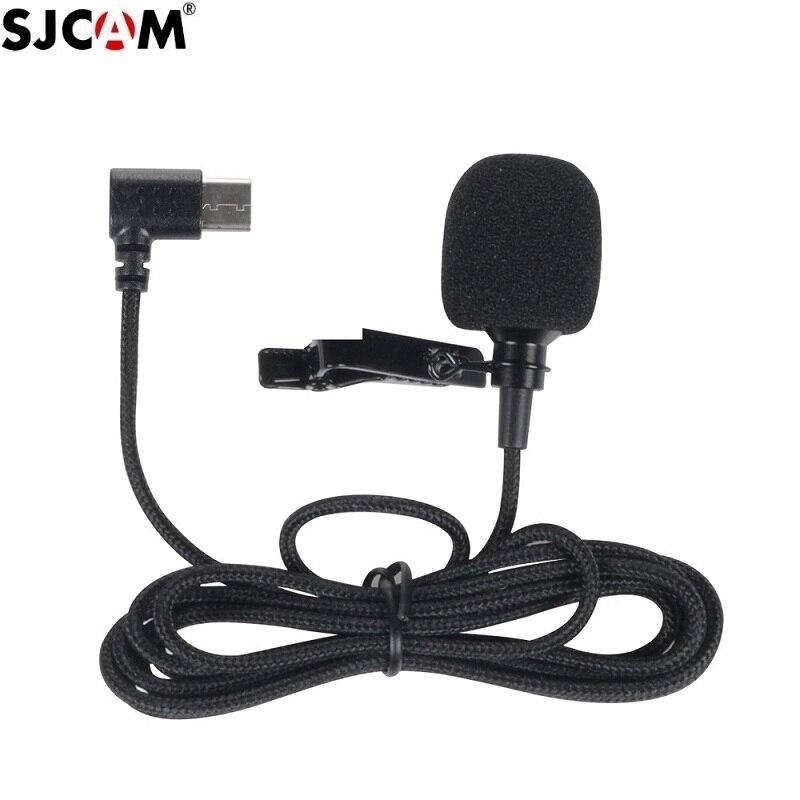 מקורי SJCAM SJ8 A10 אביזרי Tepy C חיצוני מיקרופון עבור SJ8 פרו/בתוספת/אוויר SJ9 שביתה/מקס פעולה מצלמה אבזרים