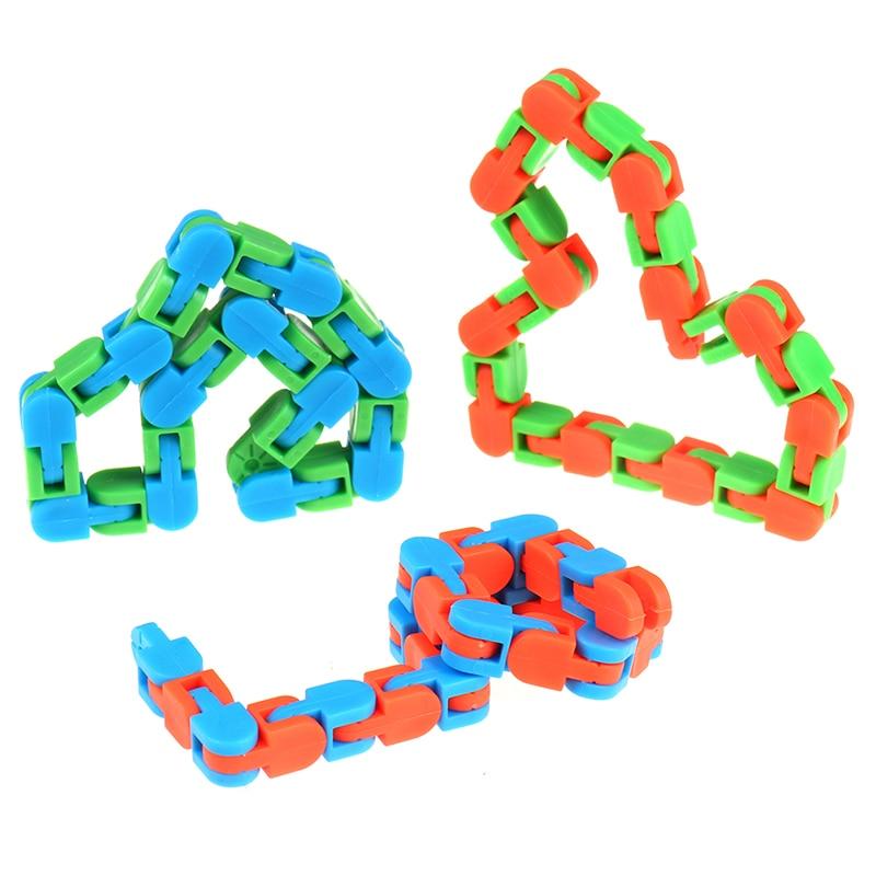 Rompecabezas de serpiente para niños, juguete sensorial clásico para Autismo