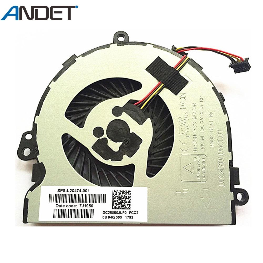Ventilador novo original do refrigerador da cpu do portátil para hp 15-da 15-db 15-dr 15q-dx 15t-ds c129 c130 ventilador de refrigeração da cpu