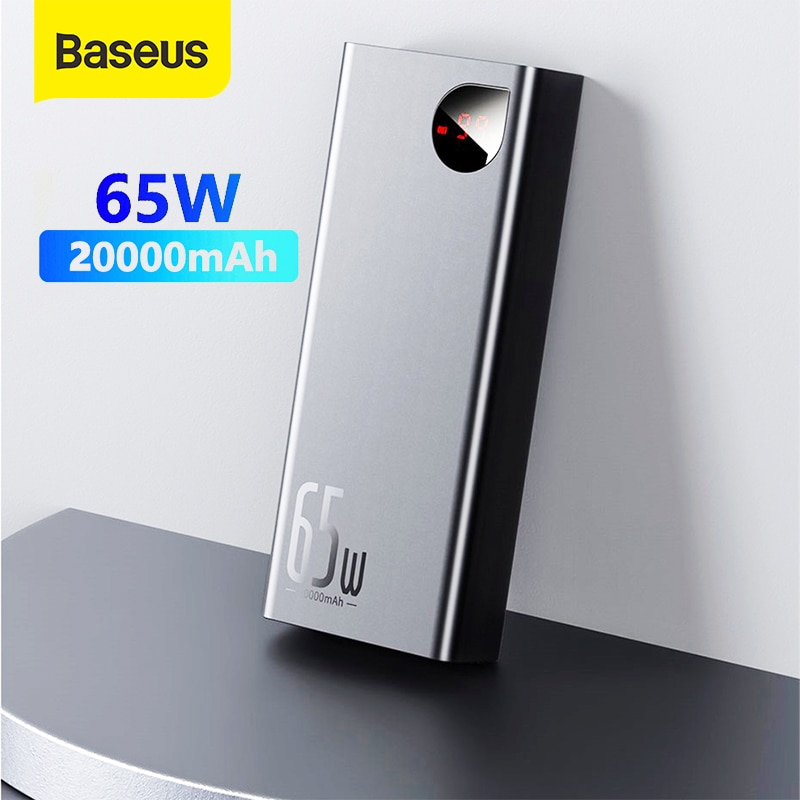 Baseus 20000mah قوة البنك 22.5 واط/65 واط PD QC 3.0 شحن سريع Powerbank المحمولة الخارجية شاحن للهاتف الذكي المحمول اللوحي