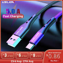 5A USB Type C Cable Wire For Samsung S10 S20 Xiaomi mi 11 Mobile Phone Fast Charging USB C Cable Type-C Charger Micro USB Cables
