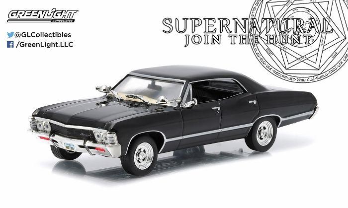 Luz verde 1:43 1967 Chevro let Impala Sport Sedan boutique coches de juguete de aleación para niños juguetes modelo original
