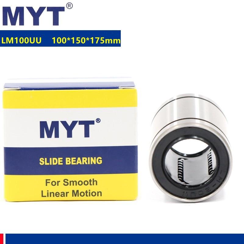 1 قطعة MYT عالية الدقة LM100UU 100 مللي متر 100*150*175 ملليمتر الخطي تحمل أجزاء للطابعة ثلاثية الأبعاد الخطي جلبة