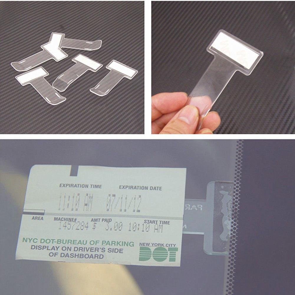 Veículo de carro bilhete de estacionamento titular clipe adesivo pára-brisas janela fixador adesivos kit estilo do carro acessórios