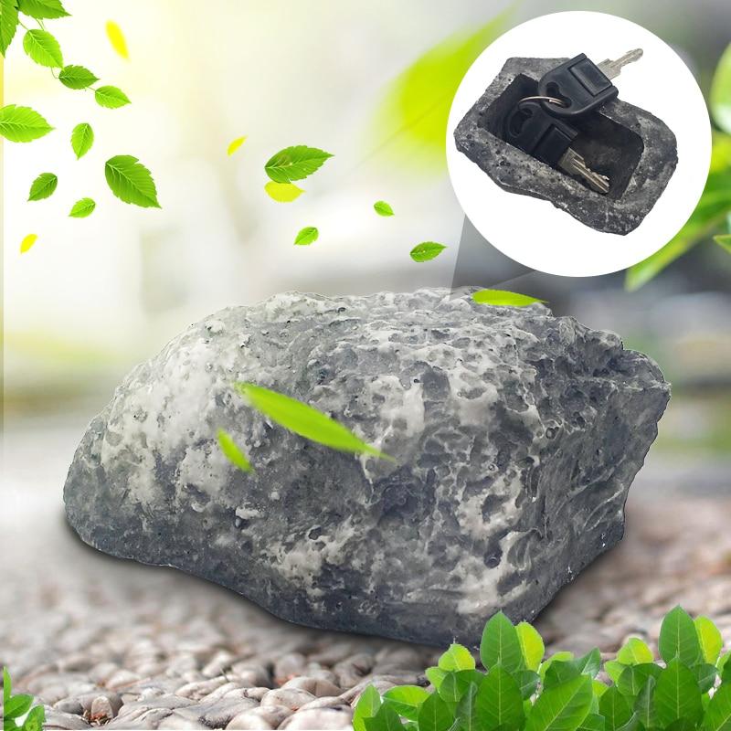 Free Shipping Garden Key Box Rock Hidden Hide In Stone Security Safe Storage Hiding Drop shipping Mini Safe Box Mni locker