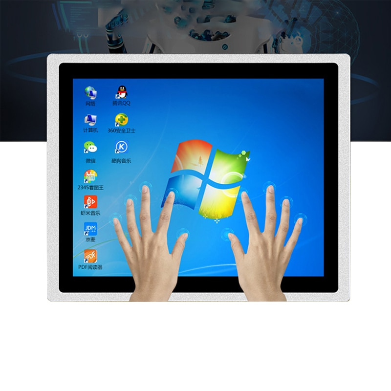 21.5 inch industrial computer 4G memory 32G SSD core J1800/i3 with waterproof screen embedded capacitive touch all in one pc