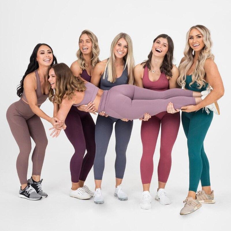 Traje de Yoga sin costuras para mujer, conjunto de 2 piezas de...