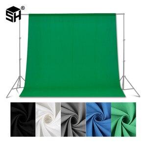 Зеленый экран фон для фотосъемки зеленый/белый/черный/синий/серый муслин полиэстер-хлопок Профессиональный фон для фотостудии