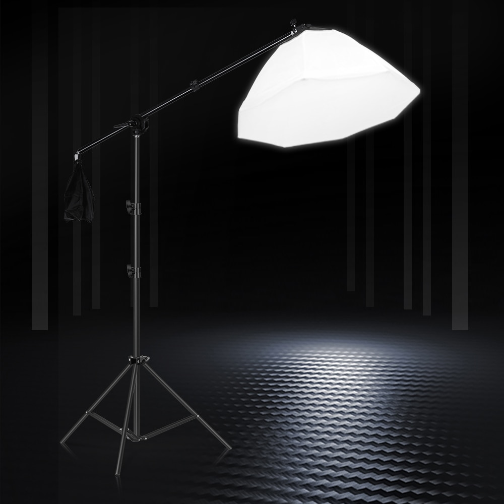 Octagon Softbox Lighting Kits with Boom Arm Photography Soft Box Fill Light Flash Continuous System Photo Studio Light Equipment