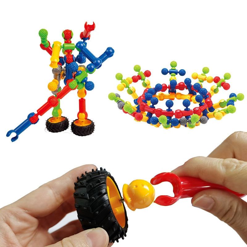 COLOQY Toys 3D DIY Skeleton joint Building Blocks Stitching Inserted Construction Assembled Educational Toys for Children Gift enlarge