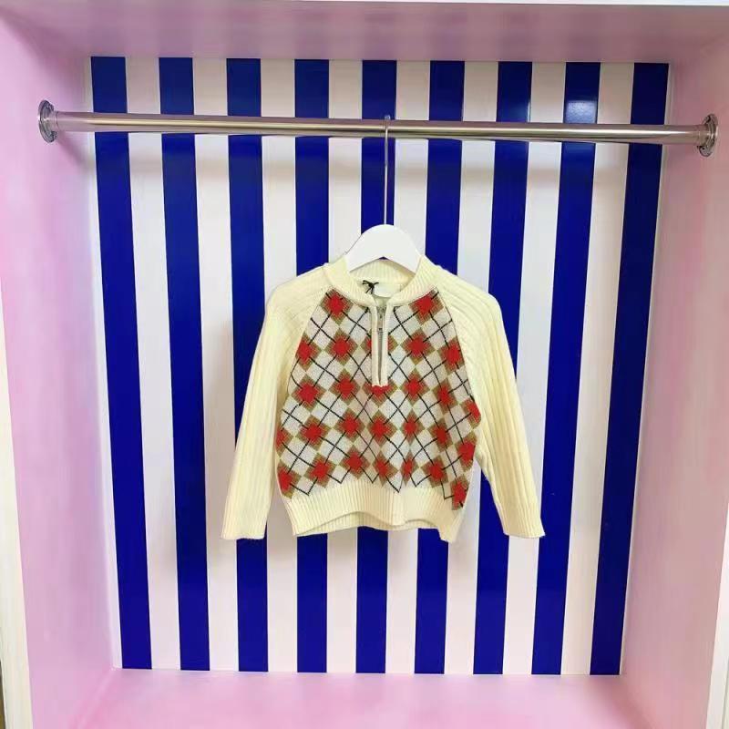 منتج جديد ملابس الأطفال المتفجرة 2021 أوائل الخريف فتاة منتج جديد البلوز سترة مطرزة ، تصميم منقوش الكلاسيكية ،