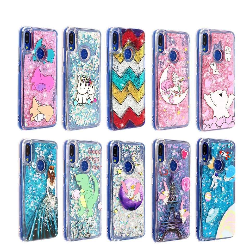 Glitter Liquid Sand Quicksand Phone Soft TPU Silicone Case Cover Shell Coque Funda for Xiaomi xiomi Redmi 6 6A 7A Red mi Note 7