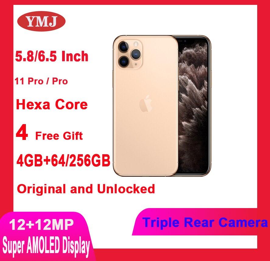 Б/у Apple iPhone 11 Pro/Redmi Pro Max разблокированный Оригинальный чехол для телефона с собакой Мопсом 5,8/6,5 дюймов AMOLED дисплей 4 + 64 Гб/256 ГБ GPS и NFC 12 + 12 Мп см...