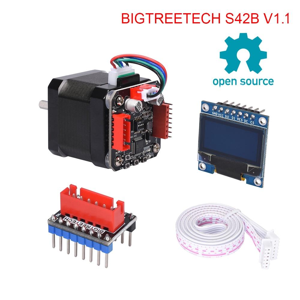Placa com Display Peças de Impressora Tmc2208 para Impressora Bigtreetech Motor Deslizante Circuito Fechado Motorista Oled 3d vs S42b V1.1 42