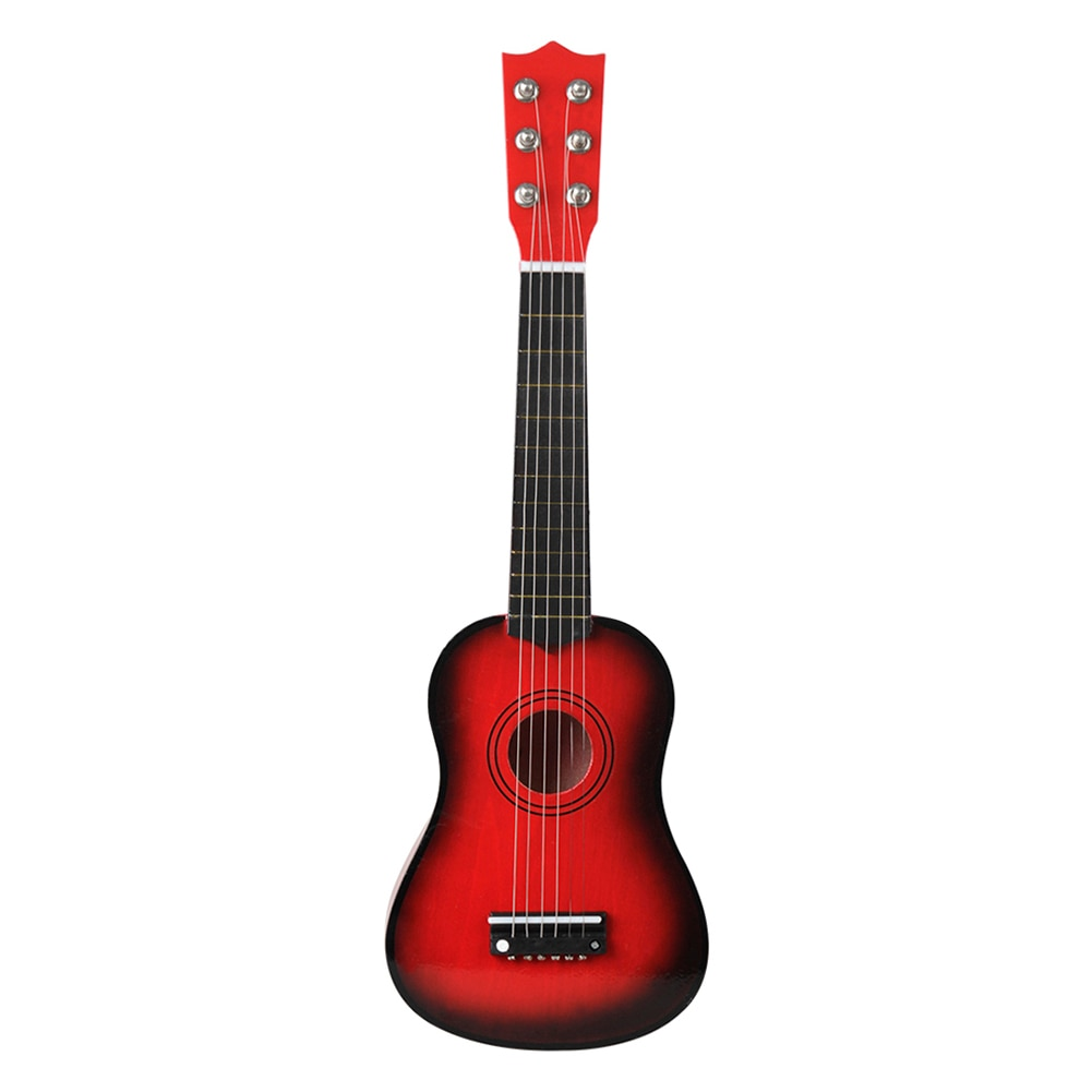 21 inch Portable Mini Guitar Acoustic 6 Strings Ukulele Musical Instruments for Children Kids Beginners Educational Learning Toy