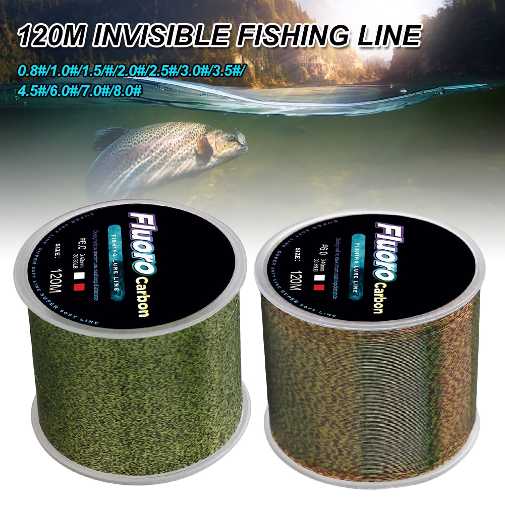 120m Invisible Fishing Line Speckle Fluorocarbon Coating Fishing Line 0.14mm-0.50mm 4.13LB-34.32LB Super Strong Spotted Line 200 meters speckle fluorocarbon coating nylon fishing line sinking high abrasion resistance stretchable super invisible line