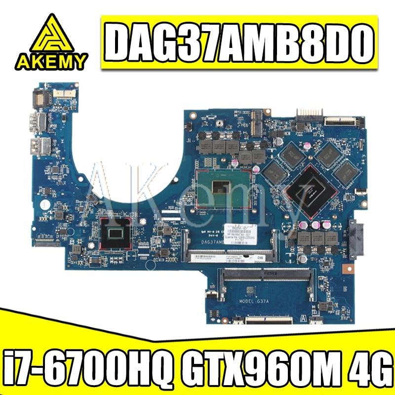 ل For HP 17-W 17-AB اللوحة الأم للكمبيوتر المحمول DAG37AMB8D0 857389-601 857389-501 مع SR2FQ i7-6700HQ وحدة المعالجة المركزية 960 متر 4G