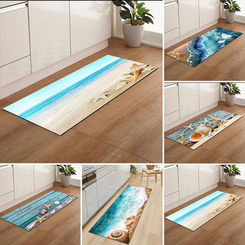 3D Sea Beach Area Rug For Living Room Bedroom Carpets Bedside Rugs Anti-slip Carpets For Children Kitchen Mats Kids Rug
