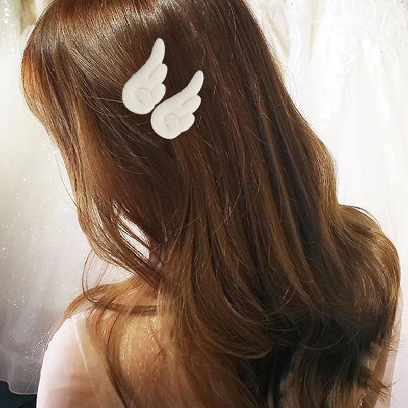 1 Paar Mooie Pluche Haar Clip Engelenvleugels Vorm Haarspeld Voor Kinderen Haar Clips Bobby Meisjes Pins Leuke Haarspeldjes haarspeldjes Hoofdtooi